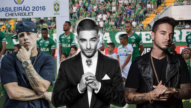 Nicky Jam, Maluma y J Balvin envían condolencias por tragedia aérea de equipo brasileño