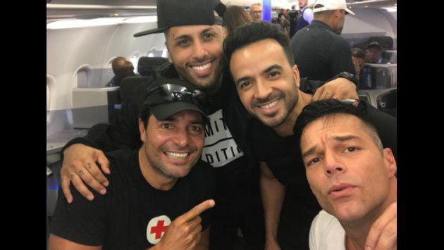 ¡Nicky Jam, Luis Fonsi, Ricky Martin y Chayanne juntos por Puerto Rico!