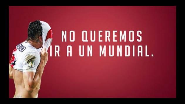 """Curioso mensaje de la Federación Peruana de Fútbol: """"No queremos ir al mundial"""""""