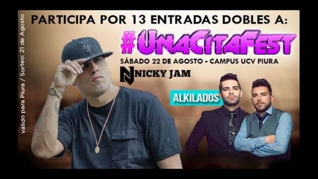 ¡Sorteamos 13 entradas dobles para Nicky Jam y Alkilados en Piura!
