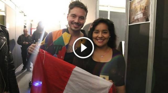 Marianita entrevistó a J Balvin ¡Le dio un beso y le cantó!