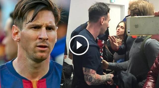¡Hinchas insultaron y escupieron a Lionel Messi!