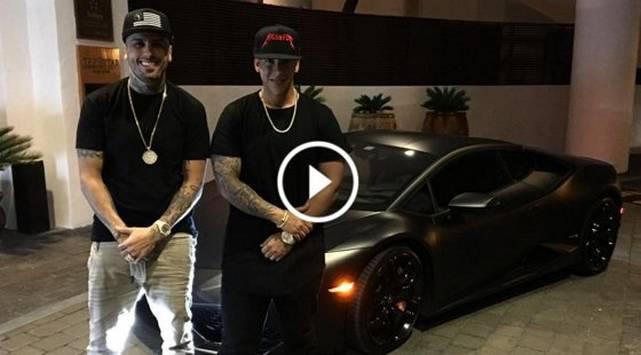 Nicky Jam invita a Daddy Yankee a pasear en su lujoso Lamborghini