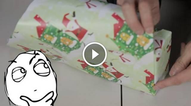 ¡Aprende a envolver regalos al toque con este video!