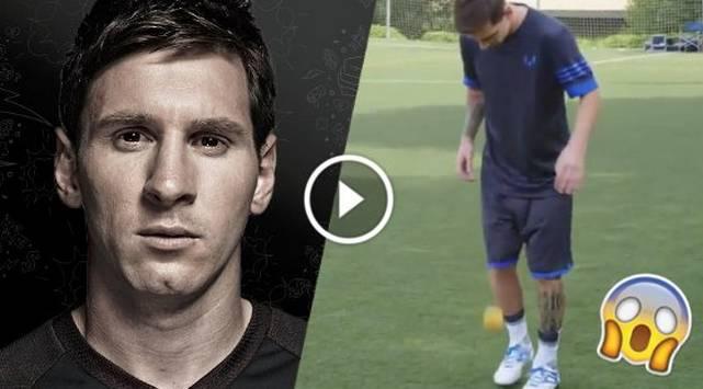 ¡Increíble! Mira lo que hizo Leo Messi con esta naranja