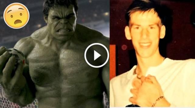 ¡Increíble! Su rutina en el gimnasio lo transformó en 'Hulk'