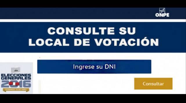 Entérate cuál será tu local de votación para las elecciones generales 2016