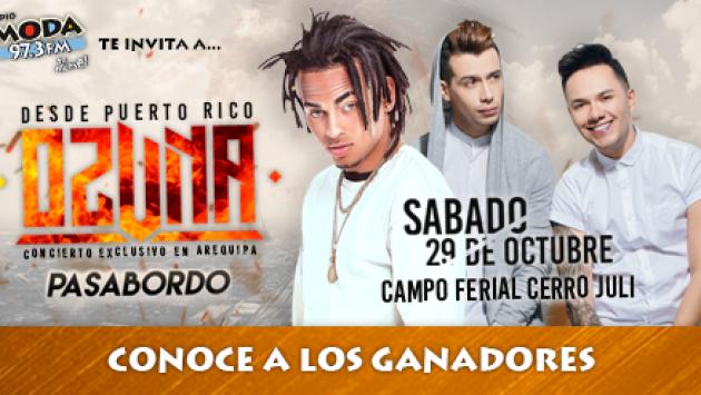 ¡Estos son los ganadores de las entradas para el concierto de Ozuna en Arequipa!