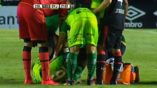 ¡Qué dolor! Futbolista argentino sufrió terrible lesión al tobillo [VIDEO]