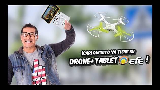 Carlonchito ya tiene su DRONE + TABLET y tú, ¿qué esperas?