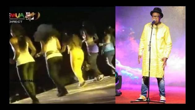Mientras sus compañeros bailaban, este cantante agonizaba en el escenario