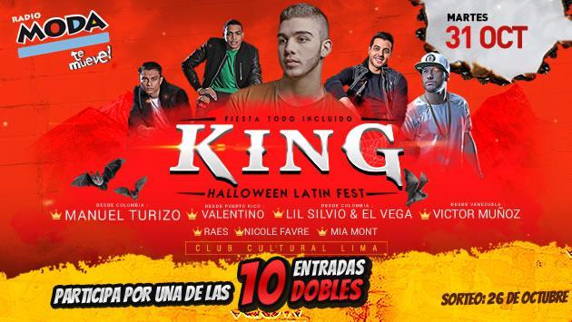 ¡Participa por entradas para el KING OF HALLOWEEN!