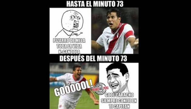 ¡Los mejores memes del gol de Pizarro!