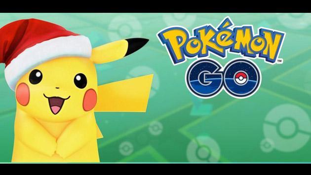 5e49c3ad5  Pokemon GO  había escondido este truco en el Pikachu con gorra de Navidad.