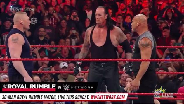 Por primera vez, WWE juntó a Goldberg, Brock Lesnar y Undertaker [VIDEO]