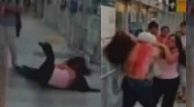 Dos mujeres se pelearon en plena estación del Metropolitano