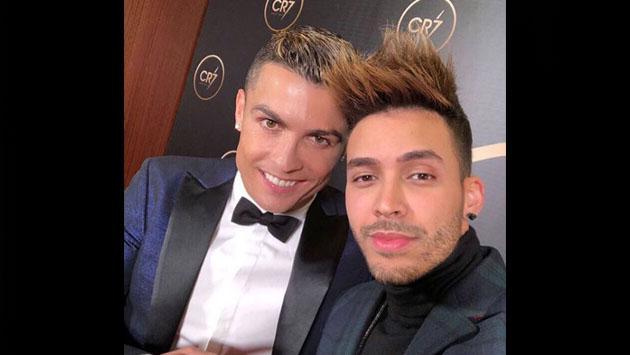 Prince Royce cantó en la gala de Cristiano Ronaldo