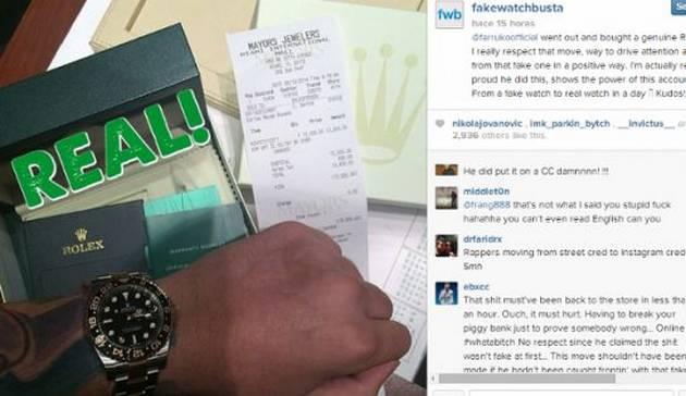 Estafan a Farruko con un Rolex de $30 mil dólares