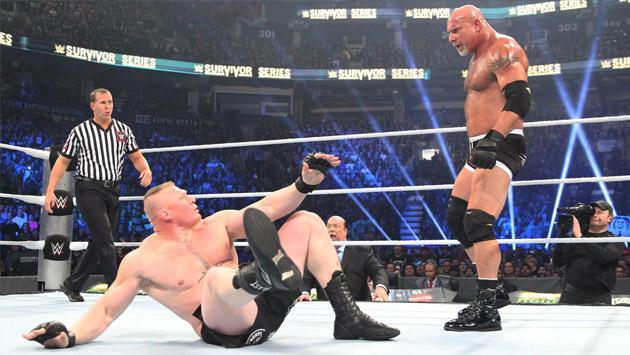 Revive la fugaz pelea entre Goldberg y Brock Lesnar en WWE aquí [FOTOS Y VIDEO]