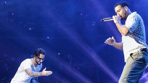 Romeo Santos bailó con Nicky Jam y Maluma en su último concierto [VIDEO]