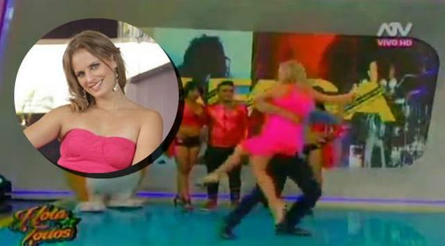 ¡Rossana Fernández Maldonado mostró más de la cuenta mientras bailaba!