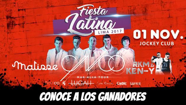 ¡Salieron los ganadores del Fiesta Latina en Lima con CNCO y RKM & Ken-Y!
