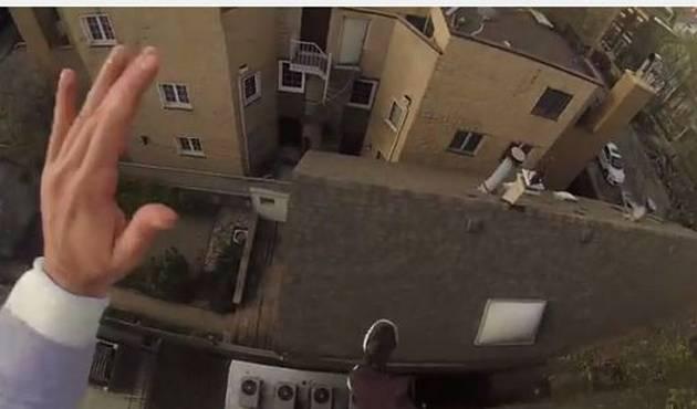 Escalofriante salto es grabado con una GoPro