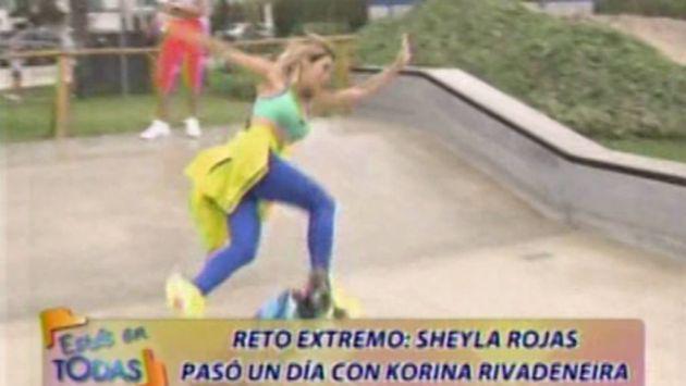 ¡Qué dolor! Sheyla Rojas sufrió tremenda caída tras montar skate