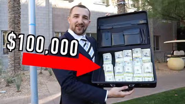 ¡Vacílate con la broma de los 100 mil dólares que la rompe en YouTube!