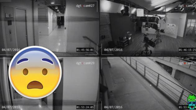 ¿Un fantasma apareció en set de televisión? Mira este escalofriante video