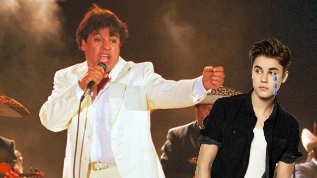 ¡Juan Gabriel le quitó este récord a Justin Bieber!