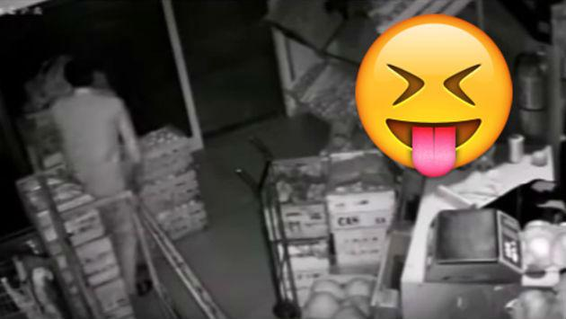 Este ladrón eligió la peor 'máscara' para ocultar su identidad [VIDEO]