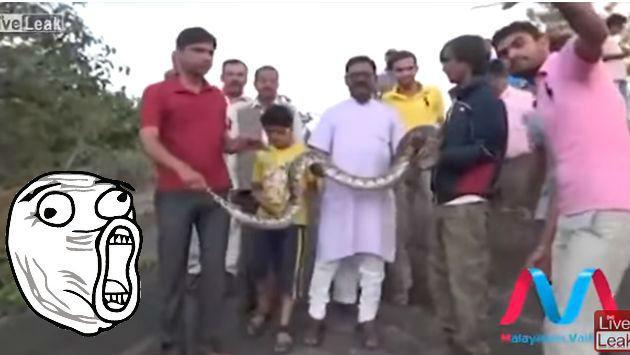 ¡Quiso tomarse un selfie con una serpiente, pero esta lo troleó!