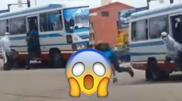 ¿Qué harías si un 'árabe' arroja una maleta dentro de la cúster en la que viajas?