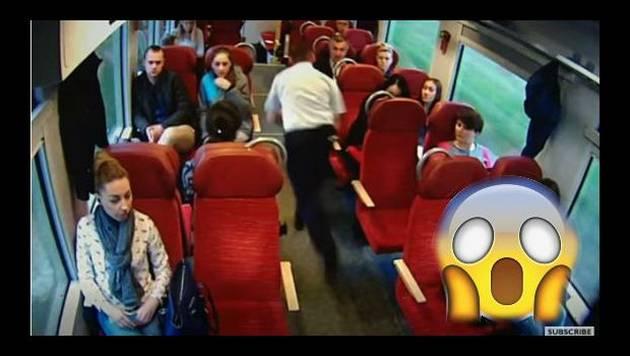 Tren estaba a punto de chocar y así reaccionó el conductor
