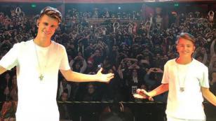 Adexe & Nau sorprendieron a fans chilenos en academia de baile