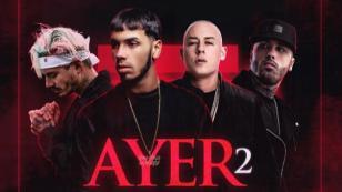 ¡Salió 'Ayer 2', tema de Anuel AA junto a Nicky Jam, J Balvin y Cosculluela!