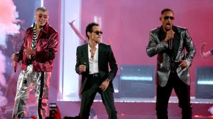 Bad Bunny, Marc Anthony y Will Smith cantaron 'Está rico' en los Latin Grammy