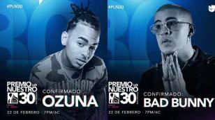 Bad Bunny, Ozuna, Maluma y Romeo Santos se presentarán en los Premios Lo Nuestro