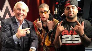 ¡Así fue el reencuentro de Bad Bunny y el ex luchador Ric Flair!