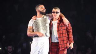 Bad Bunny y Drake cantaron 'Mía' en vivo por primera vez