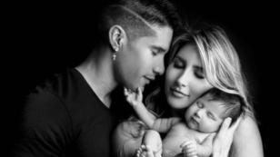 Chyno Miranda y su esposa piden consejos a sus seguidores sobre el nuevo look de su hijo