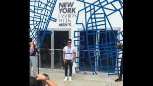 Chyno Miranda y su ingreso triunfal a la Semana de la Moda Masculina de Nueva York [FOTOS Y VIDEO]