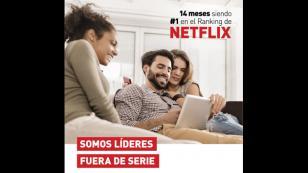 Claro se consolida como líder del ranking ISP de Netflix por 14 meses consecutivos