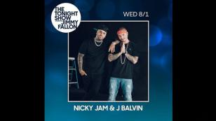 ¡Confirmados! Nicky Jam y J Balvin se presentarán en The Tonight Show de Jimmy Fallon