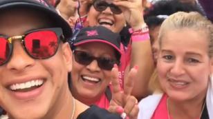 Daddy Yankee participó en carrera de la lucha contra el cáncer en Puerto Rico