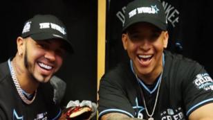 Daddy Yankee y Anuel AA participaron en el juego de las estrellas de la MLB