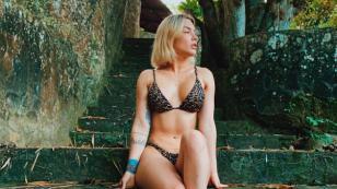 Diego Val compartió románticas fotografías junto a Leslie Shaw
