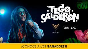 Estos son los ganadores para ver a Tego Calderón en Voce Sur
