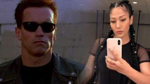 Farina rindió homenaje a Terminator con su nuevo look